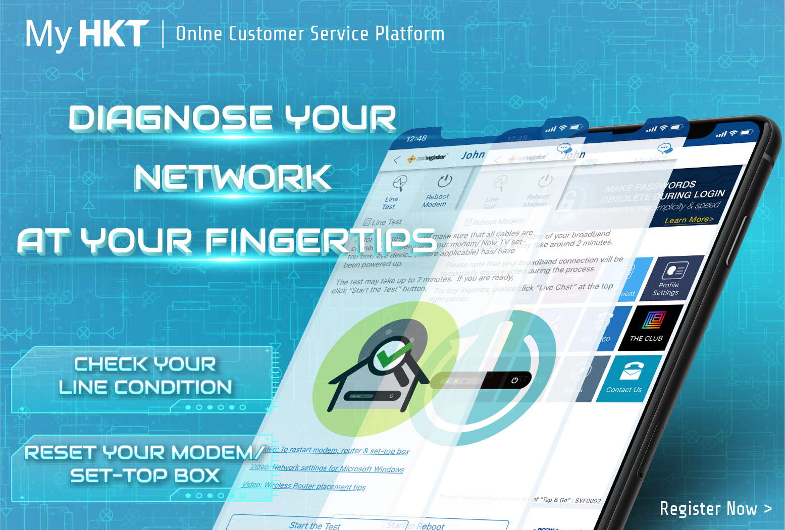 Diagnose your network at your fingertips