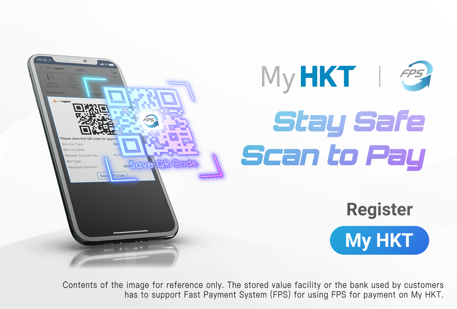 My HKT: Stay Safe Scan to Pay