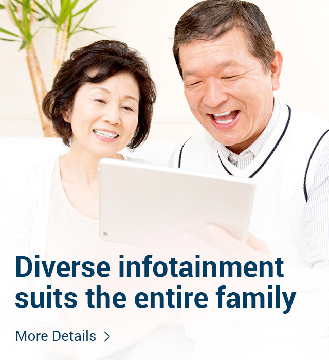 Diverse infotainment suits the entire family More details >
