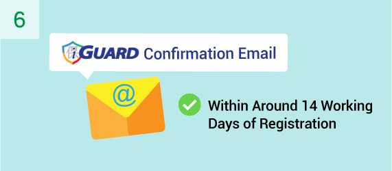 You will receive a confirmation email from i-GUARD within around 14 working days from registration